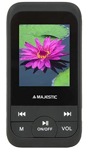 "Majestic SDA 8071N EPBK Lettore MP3 e MP4 con Display 1.8"" e Radio, Nero"