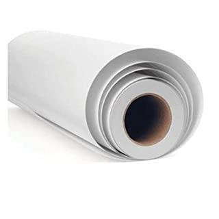 vgoltd Self Adhesive Sticky Back high Gloss White Sign Vinyl fablon craft covering (5m x 610mm roll)