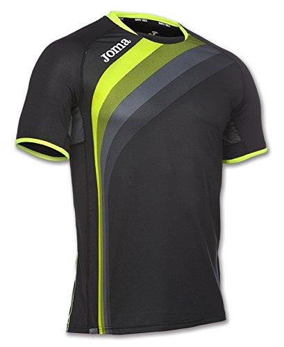Joma - Camiseta elite v negro m/c para hombre