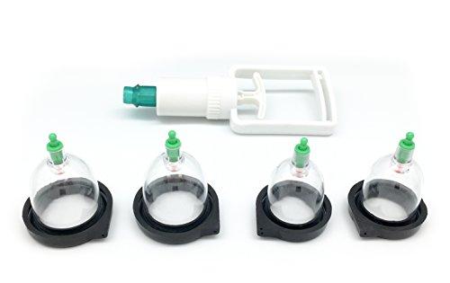 HOOVER ESTIM Nippelsauger by DR. ELECTRO, ESTIM Nippel sucker 4er Set, Nippel Sauger für Elektrostimulation, inkl. Pumpe