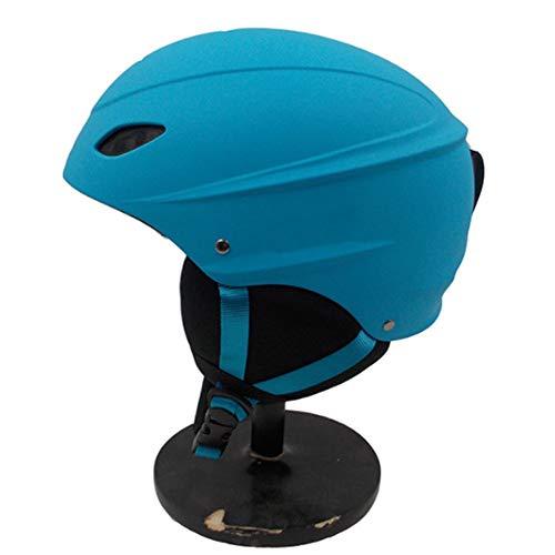 YWLG Erwachsener Kind Winddicht Ski Helm Für Männer Frauen Skating Skateboard Snowboard Snow Sport Helme,Blue-M52-58cm