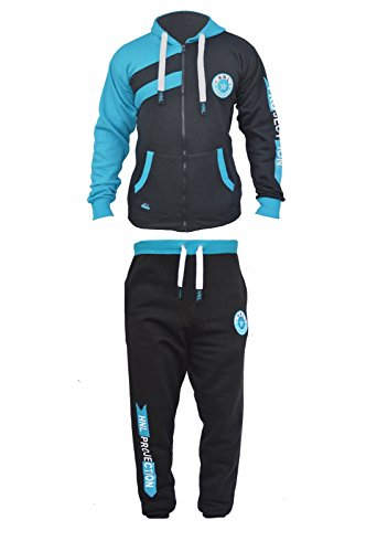 290gsm-mens-fleece-hnl-jogging-suit-hooded-tracksuit-quality-trousers-pants-tops-large-style-4-black