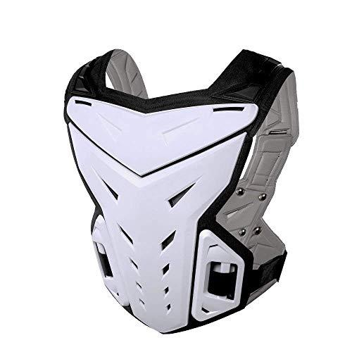 Vobajf Motorrad-Schutzjacken Motorradrennen Körperschutz Rüstung Schutz Abdeckung for Dirtbike Motocross Skifahren Snowboarden Anti-Fall-Weste Sportjacke Motorrad-Reitbrustschutz (Farbe : Weiß)