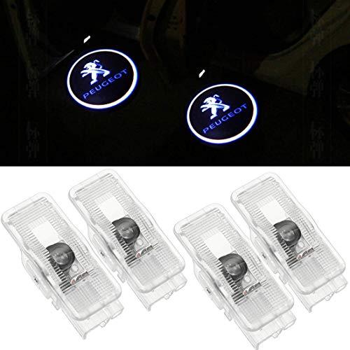 4 Pack auto porta luce LED proiettore luce benvenuto logo Porta Illuminazione d' ingresso decorazione proiezione luce 408 508 RCZ
