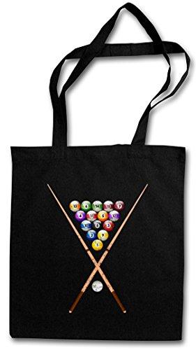 Urban Backwoods Pool Billard II Hipster Bag – Bola de Billar Eightball 8 Ball Gamble Player Shirt Rockabilly Tattoo 50s Gambling Snooker