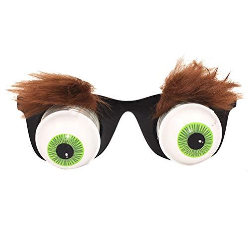 Amosfun Pop heraus Brillen Scary Disguise Eyeball Brillen, dumme Party Favors und Gag Geschenke für Halloween, April Fools Day und Motto Party