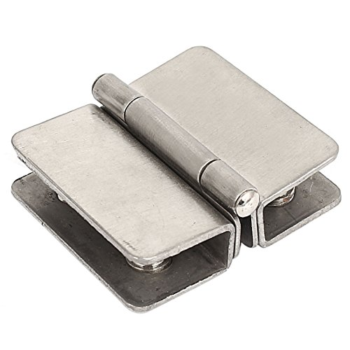 sourcingmap® Cuisine Salle bain verre Collier charnière porte Porte Collier pour 4mm-6mm épaisseur