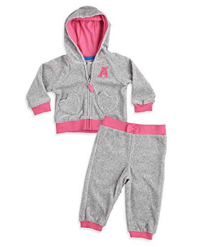 Mothercare Baby Girls' Clothing Set (Pack of 2) (F7581_Grey_3-6 months)