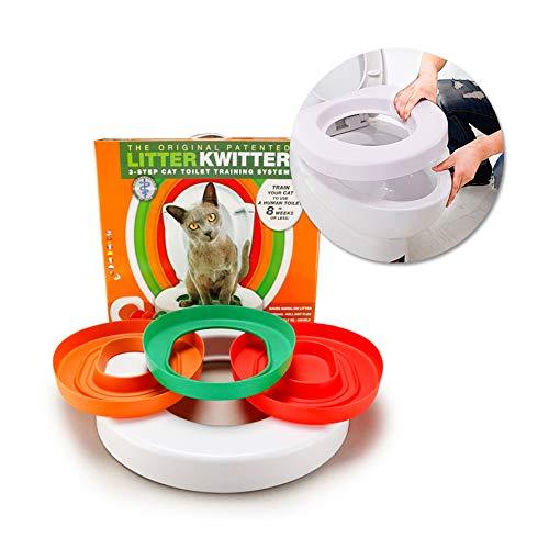 FORD KING Addestramento per Gatti Pet Pet lettiera Plastic Kit a Vassoio di plastica Pet Kitty Potty Train System Cat Nip con Passo per Passo Guida di addestramento
