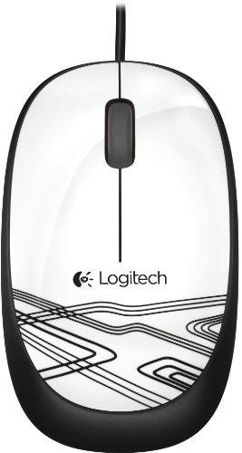 Logitech M105 Optische Maus schnurgebunden (USB, 3 Tasten, Advanced Optimal Tracking) weiß