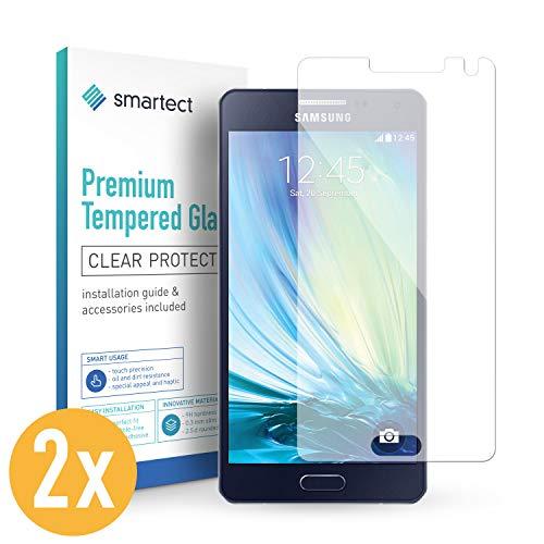 smartect Panzerglas für Samsung Galaxy A5 2015 [2 Stück] - Bildschirmschutz mit 9H Härte - Blasenfreie Schutzfolie - Anti Fingerprint Panzerglasfolie