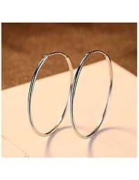 a5289204f404 MWTWM Sterling Silver Exageración Pendientes Pendientes Moda Wild Sencillo  Big Circle Personalidad Hebilla Oído