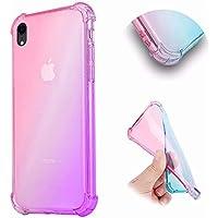Transparente Funda para iPhone XR,MingKun Gradiente Case para iPhone XR 6.1 Pulgada Gel Silicona Protectora Caso