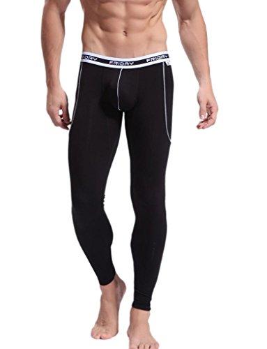 iCreat Herren Legging Leggin lange Unterhose Longjohns Underwear Energy verschiedene Farben S/M/L - Coolmax Boxer Briefs