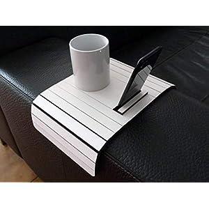 Holz sofa armlehnentisch mit iphone stehen in vielen farben wie weiß Armlehnentablett Moderner tisch für couch Klein schleichendes sofatisch Armlehne flexibel tablett Falten couchtisch