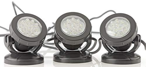 Pontec Unterwasserbeleuchtung PondoStar LED Set 3 ,3x50x70 mm