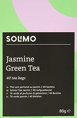 Marque Amazon - Solimo - Thé vert parfumé au jasmin - 40 sachets x6