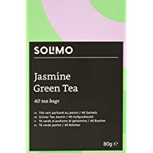 Amazon Brand - Solimo - Green Tea with Jasmine - Pack of 6 ( 6 x 40 tea bags)