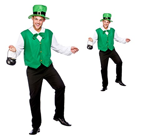 Lucky Leprechaun (Plus Size) Fancy Dress Stag Costume