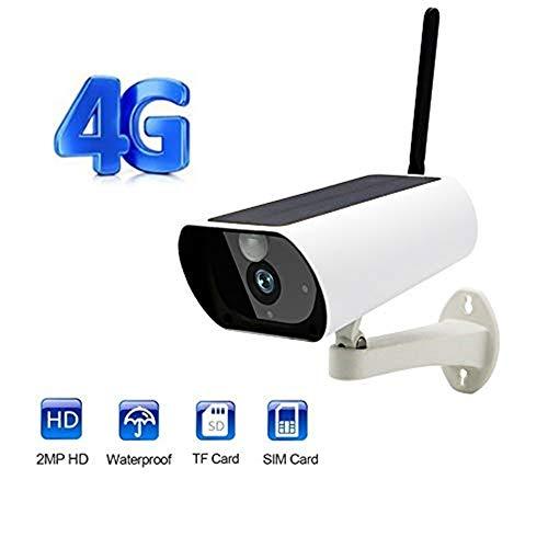 Lqqsxt Kamera Drahtlose Netzwerk-Solarkamera 2 Millionen Pixel Unterstützung 4G WiFi Infrarot-Nachtsicht-Bewegungserkennungsfunktion und Vollduplex-Intercom-Intercom für die Sicherheit zu Hause - 4g Webcam