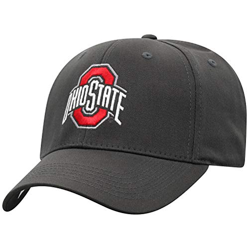 Top of the World Herren Mütze NCAA Fitted Charcoal Icon, Herren, NCAA Men's Fitted Hat Relaxed Fit Charcoal Icon, Ohio State Buckeyes Charcoal, Einstellbar