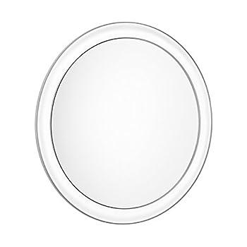 Gotofine Spiegel Mit Saugnapfmakeup-spiegel Mit 10x Vergrößerung Und 3 Starken Saugnäpfen Für Freie Hände Beim Schminken Und Rasieren, Klar, Transparent, Rund 0