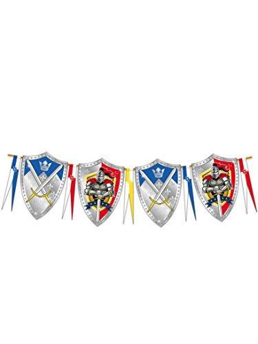 Tafelrunde Ritter Der Kostüm - Folat NEU Wimpelkette Ritter & Wappen, 6 m