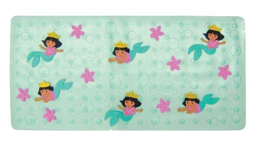 Ginsey Bath Mat, 30.5Lx14.25W, Dora the Explorer Mermaid