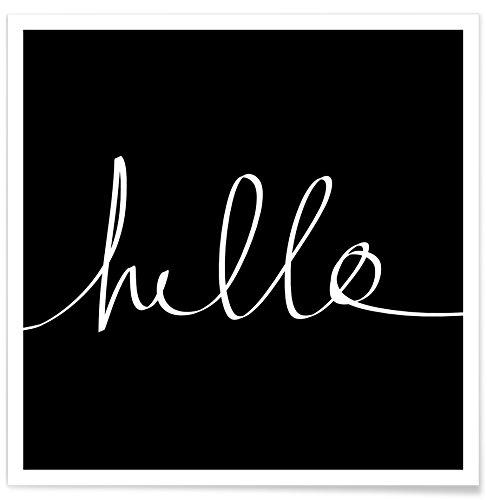 JUNIQE® Poster 30x30cm Schwarz & Weiß Typografie & Symbole - Design