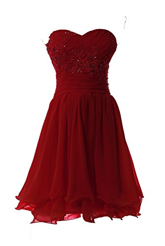YiYaDawn -  Vestito  - linea ad a - Donna rosso vivo