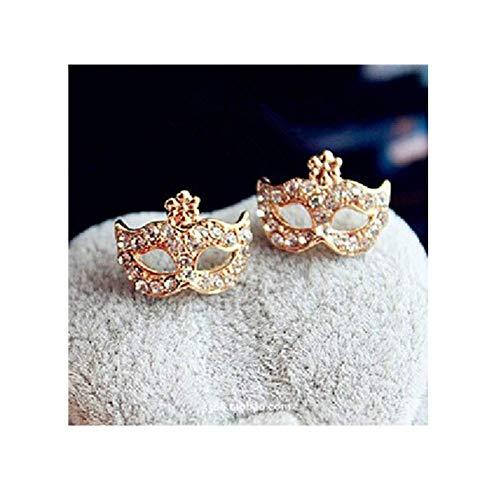 Thumby Wilde Ohrringe/Ohrstecker/Ohrringe Baumeln/Ohr Schnalle, Maske Ohrstecker mit Strass für Frauen Mode Party Gold Farbe Ohrstecker -
