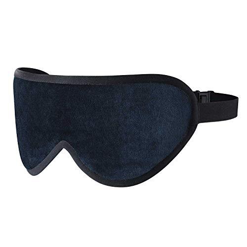 Königsblaue Luxuriöse Schlafmaske Von Masters of Mayfair - Handgefertigte Augenmaske Aus Feinen Organischen Stoffen, Bambus Seide & Lavendel - Der ideale Reisebegleiter & Die Beste Einschlafhilfe