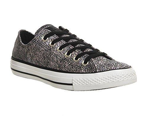 Converse Converse Damen Chuck Taylor All Star Ox Sneakers, grau/rosa/schwarz 36 EU