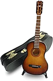 LS Classical Guitar Christmas Ornament, Acoustical Wooden Music Instrument, Mini Toy Guitar Musical Instrument