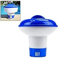 Chloordispenser, 5 inch zwembadreiniger Premium chemische dispenser Verstelbare chemische vlotter Grote capaciteit zwembad Drijvende chloordispenser Injector