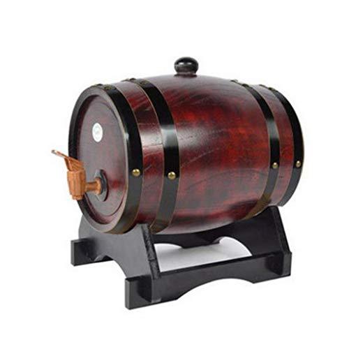 HuaHua Furniture Weinfass, 10L Eichen-Weinfass-Spender, hölzerne Weinbrau-Geist-Whisky-Speicher-Demijon mit Hahn-Garten-Kneipen-Fässern (Color : G) - Sammlung Kleine-spender