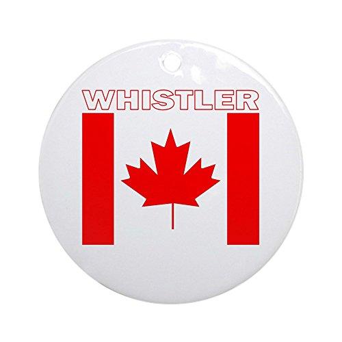 CafePress-Whistler, British Columbia Ornament (rund)-Rund Urlaub Weihnachten Ornament