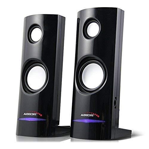 Audiocore AC860 - Altavoces para PC, USB, 2x4W, auto alimentado, color negro