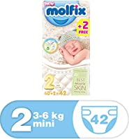 Molfix Anti Leakage Comfortable Mini Baby Diapers, 3-6 kg, 42 Count (5047212)