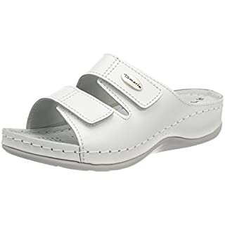 Tamaris Damen 27510 Pantoletten, Weiß (White Leather), 40 EU