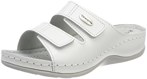 Tamaris Damen 27510 Pantoletten, Weiß (White Leather), 39 EU