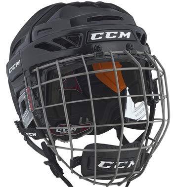 CCM 90 Pro Combo Helm, Größe S, Farbe: Schwarz -