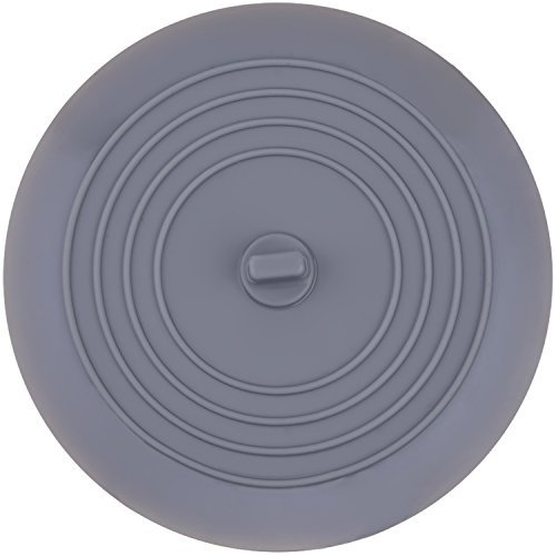 Mudder 6 Zoll Silikon Wanne Stopper Ablassschraube für Küche, Bäder und Wäschereien (Grau)