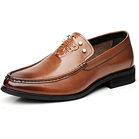 zapatos de vestir de los hombres/Transpirable zapatos de cuero del negocio poner un pie británica
