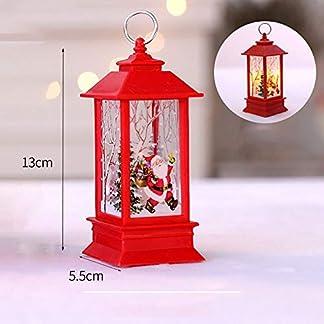 WARMWORD Vela de Navidad con luz LED Tea Velas para Navidad Fiesta de decoración lámpara de Aceite Colgante lámpara de Queroseno Decorativa para decoración de Fiesta de Navidad en casa