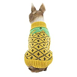 Fashion Cute Small Dog Clothing ! sunnymi® Halloween Puppy Costumes Outfit Winter Warm Pineapples Knitting Coat Costume Apparel for Walking Jogging XS S M L XL