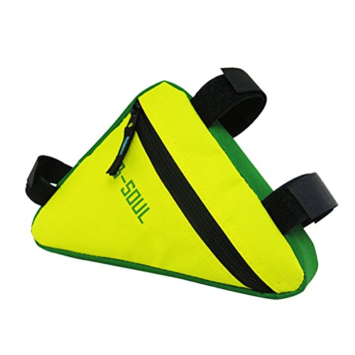 WINOMO Fahrradtasche Triangle Bag Wasserdichte Dreieck Fahrradrahmen Taschen (Gelb und Grün)