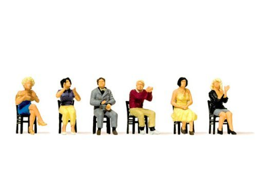 Preiser 10624 Sitzende Zuschauer, applaudie Ein Zuschauer