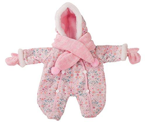Preisvergleich Produktbild Götz 3402279 Schneeanzug schick und warm eingepackt - Overall-Winterset Puppenbekleidung Gr. M - 3-teiliges Bekleidungs- und Zubehörset für Babypuppen mit einer Größe von 42 - 46 cm - bestehend aus Anzug, Schal und Handschuhe - geeignet für Kinder ab 3 Jahren