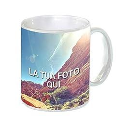 Idea Regalo - Tazza Personalizzata Mug in Ceramica - Bianca Standard (Senza Scatola), Singola - 1 Tazza